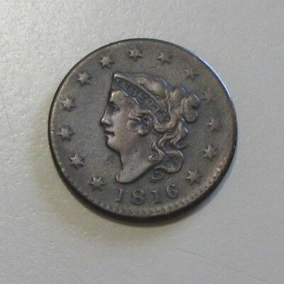 Stunning 1816 Large Cent High Grade Coronet Head