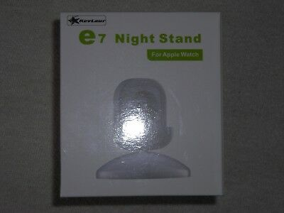 e7 Night Stand 360-degree Rotary Charging Stand for Apple Watch WHITE