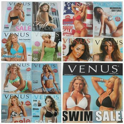 Lot of 13 Older Venus Swimwear Catalogs Different Years Early 2008 -2011 Lot 62
