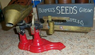Antique Cast Iron Scale Brass Scoop Candy Flour Seed Hardware Store
