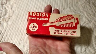Boston pencil sharpener speed cutters and carrier in one unit, new in box