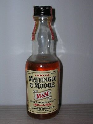 MINIATURA COLLECTION WHISKY MATTINGLY & MOORE BOURBON  1/10 PINT 80 proof