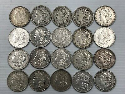 Morgan Silver Dollar Lot of 20 Pre-1921 90% Silver Great Lot M1