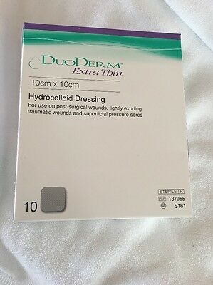 DUODERM Sterile Dressing With Hydrocolloid Extra Thin 10X10Cm X5 Dressing