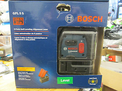 Bosch Professional Gpl 5S 5-Point Self-Leveling Alignment Laser New!!