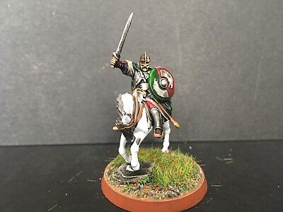 Warhammer lotr Well Painted Rider Of Rohan Converted Captain B Plastic