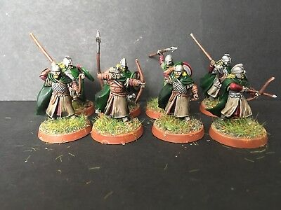 Warhammer lotr Well Painted 8 x rohan warriors plastic set a