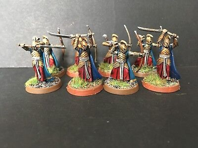 Warhammer lotr Well Painted 8 x Elfs Of Last Alliance plastic set B