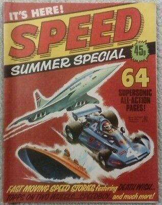 Speed  Summer Special Comic 1980   RARE/SCARCE (FREE P&P) Now Only £24.99