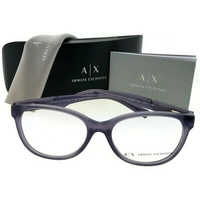 dbda3bbba2d0 ARMANI EXCHANGE AX3032F-8191-53 Eyeglasses Size 53mm Cat Eye New 100%  Authentic