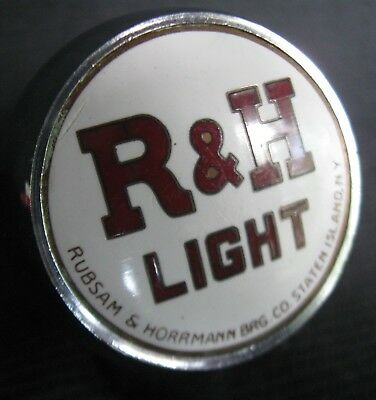 Old Ball Tap Knob From Staten Island, Ny Advertising R. & H. Light Beer