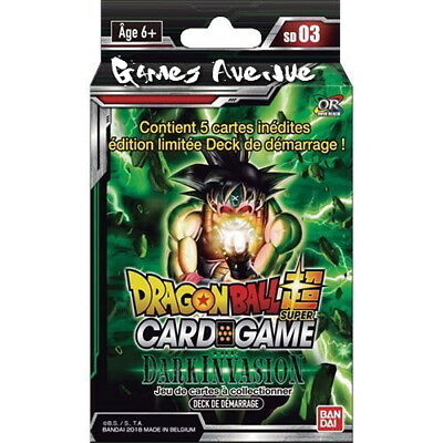 "Dragon Ball Super Card Game ! Deck de Démarrage ""The Dark Invasion""  VF/SD03 !"