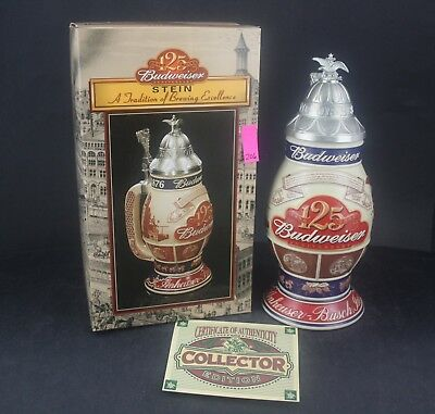 2002 Budweiser Collector's Edition 125th Anniversary Limited Stein CS496 (206)