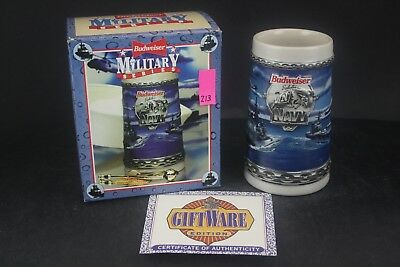 1994 Budweiser Military Series Salutes The Navy Stein (213)