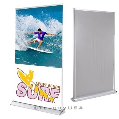 """47""""x78"""" Rear Projection Projector Screen Banner Stand Roll Up Trade Show Display"""
