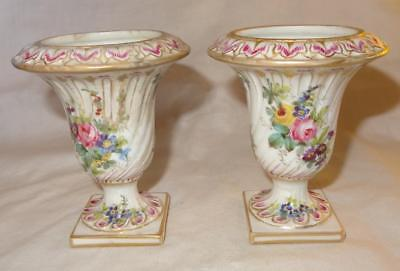 Antique French SEVRES Style Porcelain Small Urns