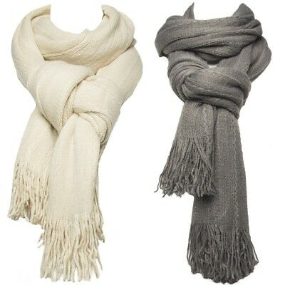 Blanket Scarf for Men and Women Lightweight Winter Fashion Oversized With Fringe