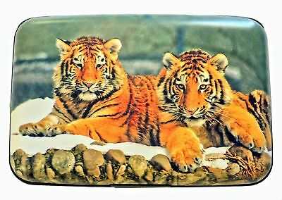 Tigers RFID Secure Theft Protection Credit Card Armored Wallet  Wildlife Cats