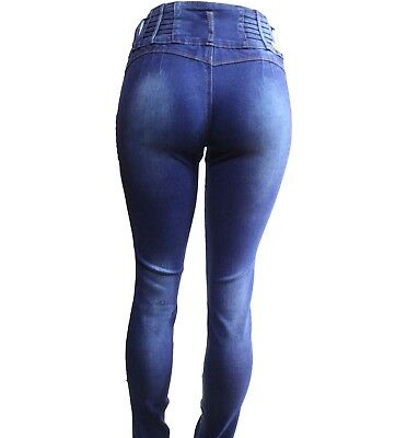 Tush push  colombian med blue 1161 stretch levanta cola high waist skinny jeans