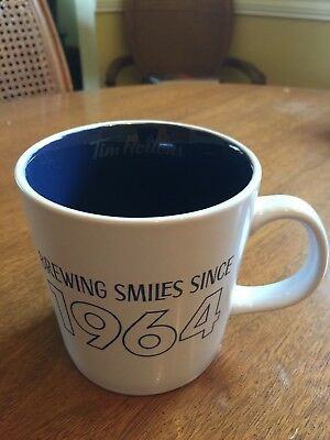 "Tim Horton Limited Edition 2017 Mug, Blue ""Brewing Smiles Since 1964"""