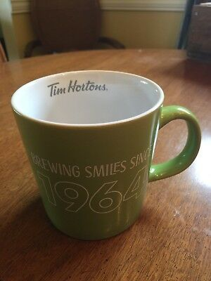 "Tim Horton Limited Edition 2017 Mug, GREEN ""Brewing Smiles Since 1964"""