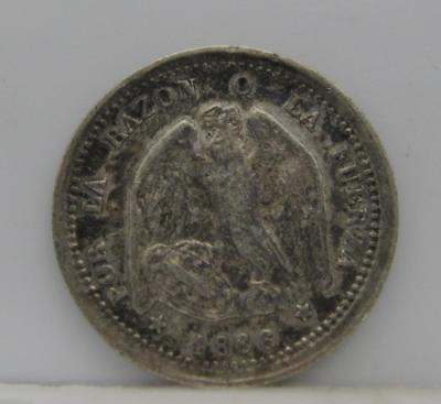Chile 1866 Silver 1/2-Decimo! Extra Fine! Km# 137.1! Really Nice Type Coin! Look