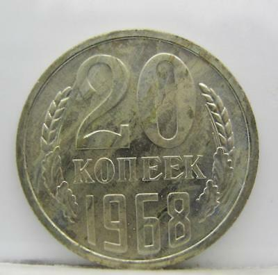 Russia 1968 20-Kopeks! Minty! Y# 132! Really Nice Old Type Coin! Look!