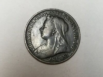 GREAT BRITAIN 1900 farthing coin nice condition
