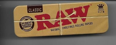 Raw Roll Caddy Cigarette Rolling Papers King Size Slim Metal Tin Case