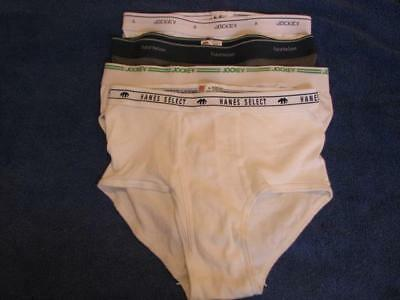 "Lot of 4 Vintage underwear ""tighty whities"" men's white briefs Large"