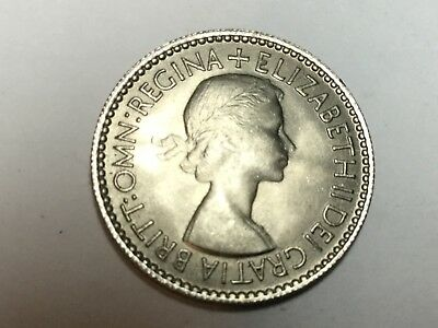 GREAT BRITAIN 1953 six pence coin uncirculated