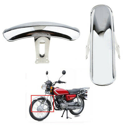 Chrome Front Fender Mudguard Heavy Duty for Honda CG125 Custom