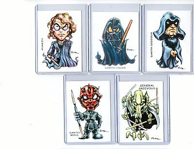 Star Wars #5 Movie (5 Cards) Art Prints Anakin Darth Vader Sidious Maul Grievous