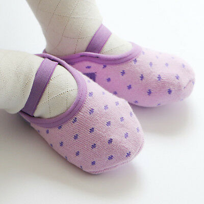 Baby Cotton Non-slip Stockings Fashion Floor Socks Soft Socks Purple