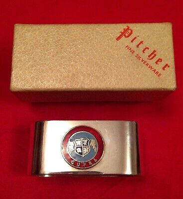 Vintage Silver Plated Souvenir Napkin Ring 'Guyra' New South Wales, Australia