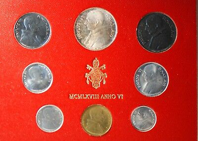 Vatican City, 1968 (8 Coin) Mint Set, Reserve,                             mab18