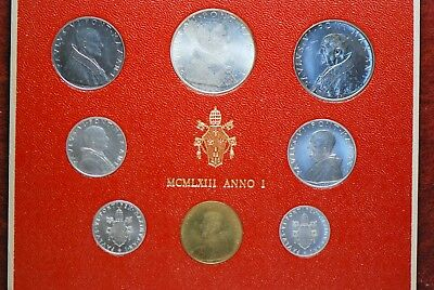 Vatican city, 1963 (8 Coin) Mint Set, Reserve,                             mab18