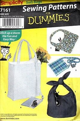 Simplicity Soft Bags Sewing Patterns For Dummies #7161
