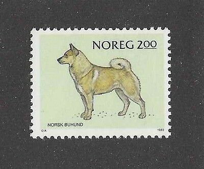 Dog Art Body Study Portrait Postage Stamp NORWEGIAN BUHUND Norway 1983 MNH