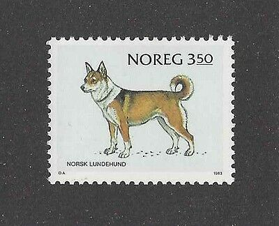 Dog Art Body Study Portrait Postage Stamp NORWEGIAN LUNDEHUND Norway 1983 MNH