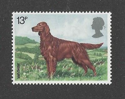Dog Art Body Portrait Postage Stamp IRISH SETTER United Kingdom Native Breed MNH