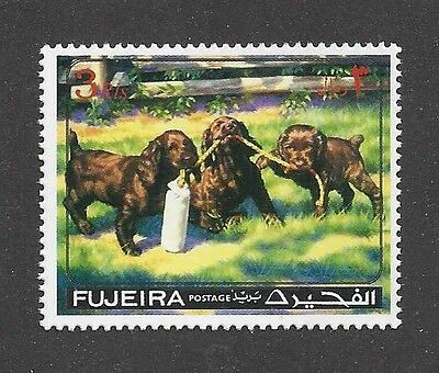 Dog Art Portrait Postage Stamp FIELD / SUSSEX SPANIEL Puppy Fujeira MNH