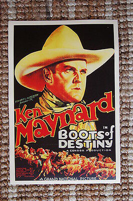 Boots of Destiny Lobby Card Movie Poster Western Ken Maynard