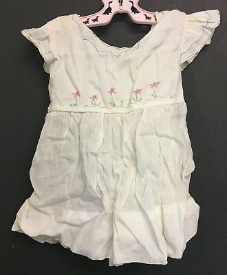 """Vintage 1950's Toddlers Girls Tagged """"Nannette Frocks"""" Embroidered Dress Size 2"""