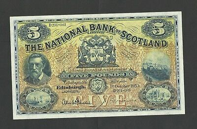 THE NATIONAL BANK OF SCOTLAND  £5    1953   P259d