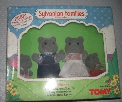 Vintage Originals Tomy Sylvanian Families The Evergreen Family Bears New in Box