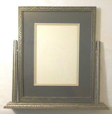 VTG CARVED WOOD SWIVEL TABLE TOP PICTURE FRAME ANTIQUE PHOTOGRAPH 9 ...