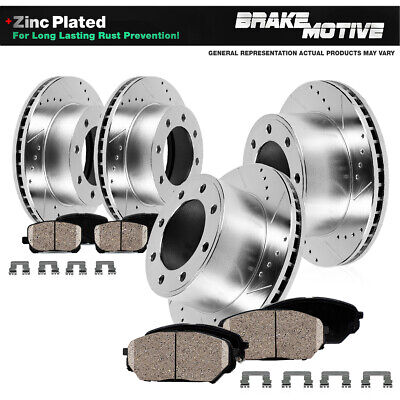 Front and Rear Brake Rotors & Ceramic Pads CHEVY EXPRESS GMC SAVANA 2500 DIESEL