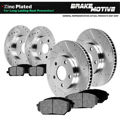 Front & Rear DRILLED SLOTTED BRAKE ROTORS & METALLIC PADS 99 - 05 Alero Grand Am