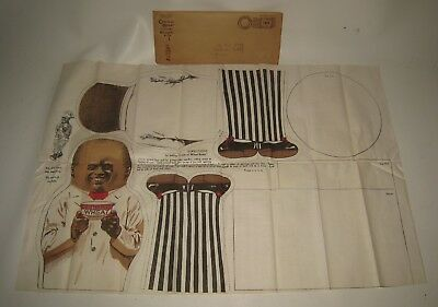 1920's Cream of Wheat Chef Cloth Doll Pattern Mint Unused Uncut in Envelope BL73